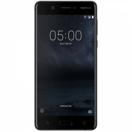 Nokia 5 DS (Matte Black,Tempered Red)