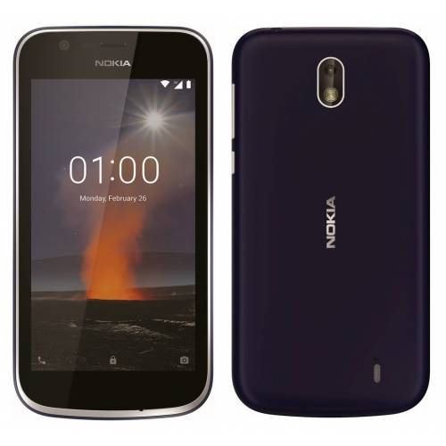 Nokia 1 DS (Dark Blue,Warm Red)